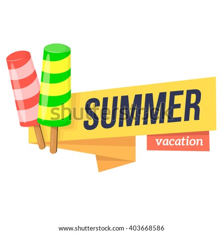 Summer travel banners tropic vacation background stock - Text banner design ...