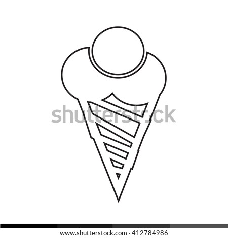 Ice cream icon illustration design - stock vector