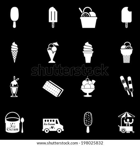 Ice cream icons set - stock vector