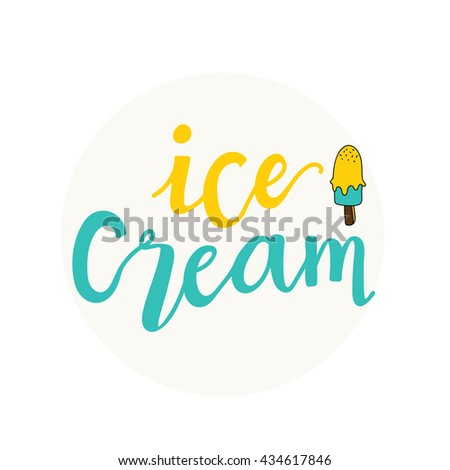 ice cream logo - stock vector