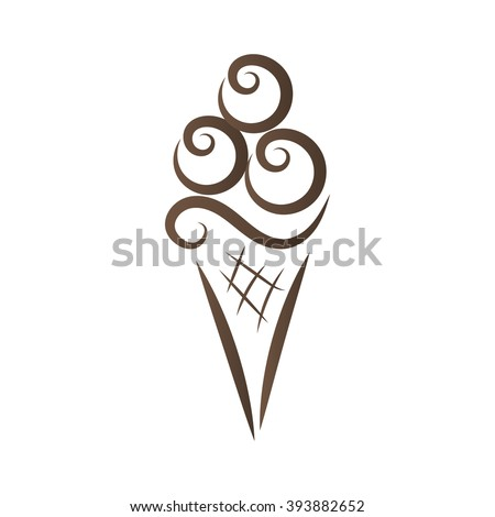Ice Cream Logo Label Icon Badge Stock Vector 393882652 - Shutterstock
