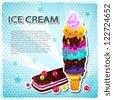 Ice cream menu - stock vector
