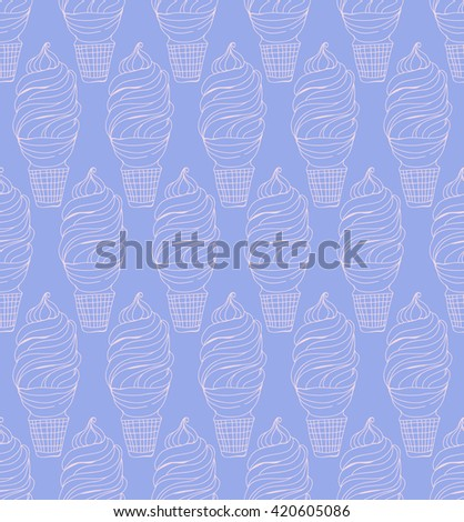 Ice cream seamless - stock vector