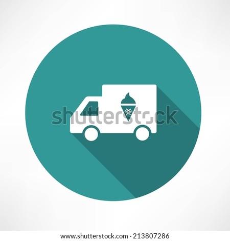 ice cream truck icon - stock vector