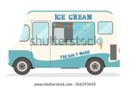 Ice cream van - stock vector