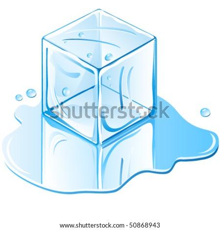 ice cube - illustration vector - stock vector