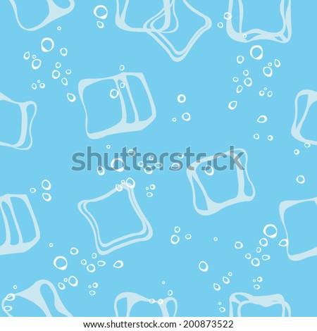 Ice cube pattern - stock vector