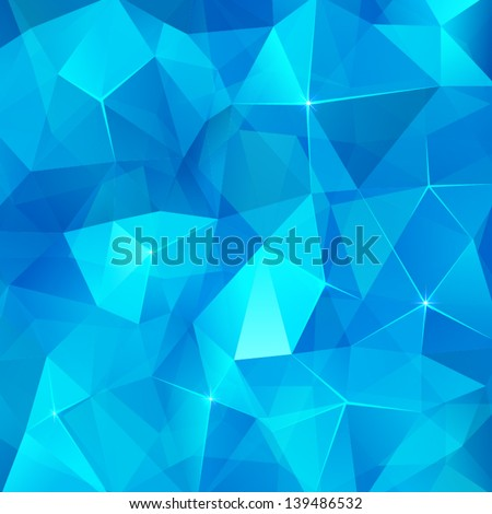 Ice cubes  abstract vector background - stock vector