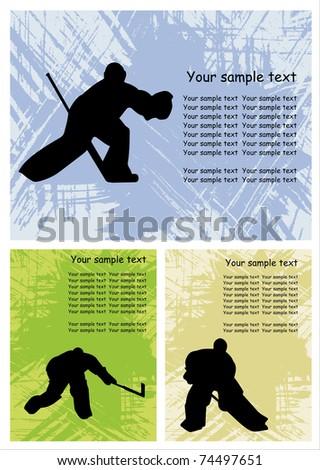 ice hockey - stock vector