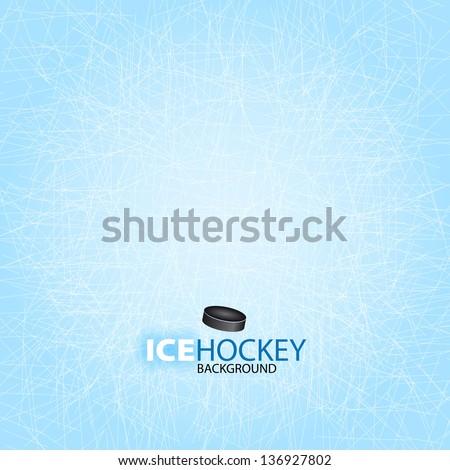Ice Hockey background - Vector illustration