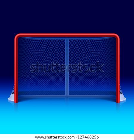 Ice hockey net. Vector. - stock vector