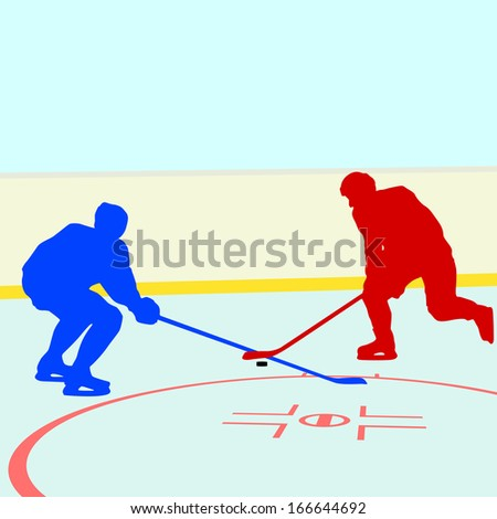 Ice hockey players. Vector illustration - stock vector