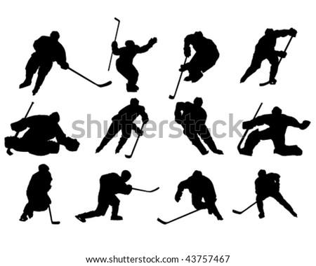 Ice hockey - vector - stock vector