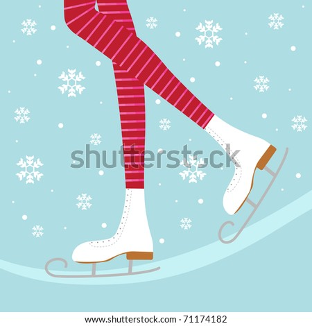 Ice skates - stock vector