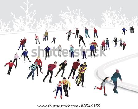 Ice Skating Rink - stock vector