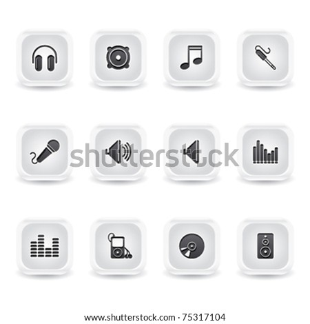 ice square website icons - stock vector