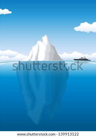 Iceberg - stock vector