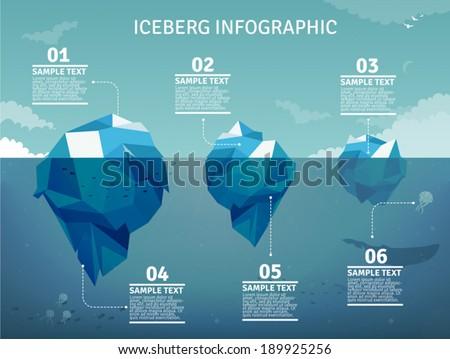 Iceberg  infographics - stock vector