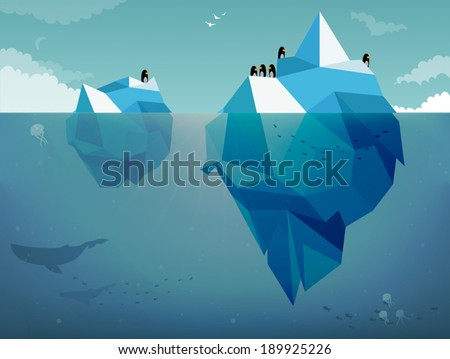 Iceberg & Penguins