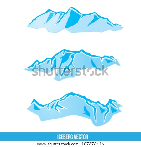 Iceberg Vector Illustration - stock vector