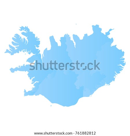 Iceland Map Blue Pastel Graphic Background Stock Vector 761882812 ...