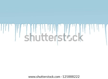 Icicles vector background - stock vector