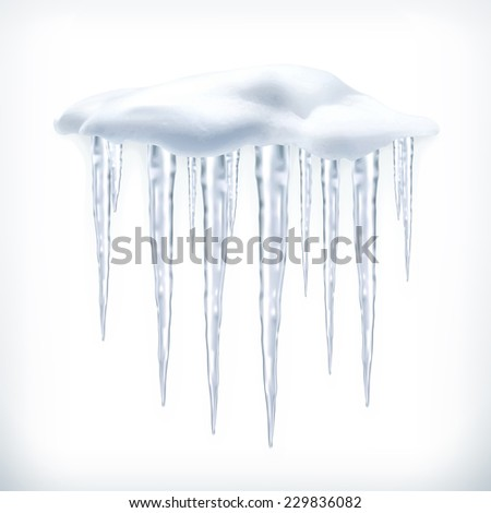 Icicles, vector object - stock vector