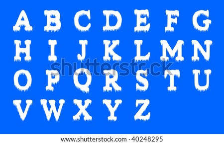 Icing alphabet. Capital letters - stock vector