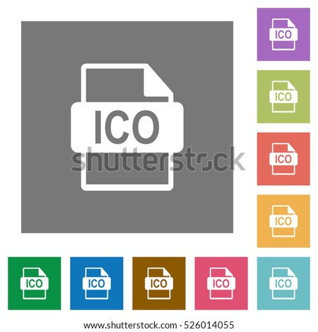 ico file format flat icons on stock vector 526014055 shutterstock. Black Bedroom Furniture Sets. Home Design Ideas