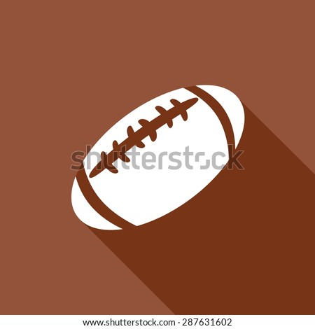 Icon american football with a long shadow
