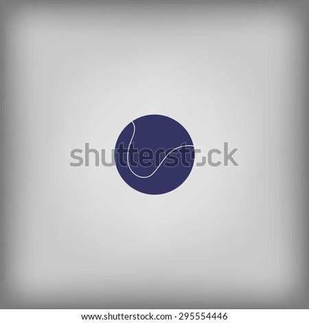 icon ball tennis  - stock vector