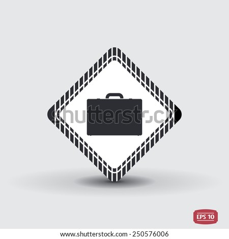 Icon briefcase. Flat design style. Made in vector - stock vector