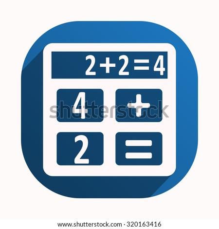 icon calculator. icon. vector design - stock vector