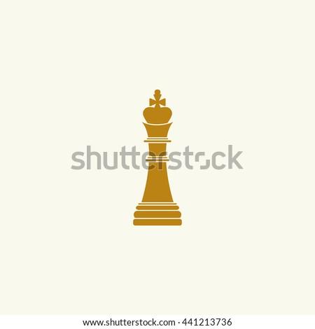 Icon chess king. - stock vector