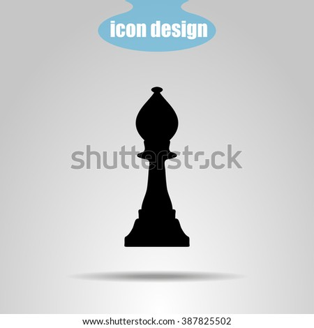 Icon  chess piece. Bishop - stock vector