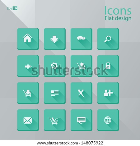 Icon concepts in flat design style. Editable vector format. - stock vector