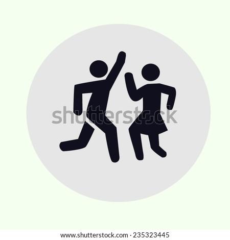 Icon Dance Man Woman Stock Vector 2018 235323445 Shutterstock