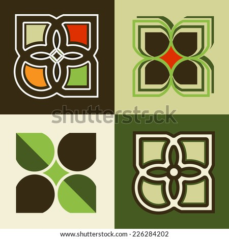 Icon decals  - stock vector