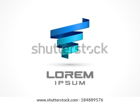 Icon design element. Abstract idea for business company.  Spiral, spring, technology, growth and medical concepts. Pictogram for corporate identity template. Stock Illustration (Vector) - stock vector
