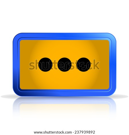 Icon dialog. Isolated on white background. Specular reflection. Made vector illustration