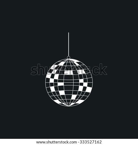 Icon disco ball. - stock vector
