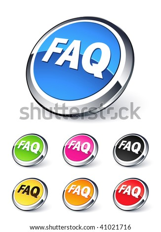 icon FAQ frequently asked questions - stock vector