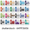 Icon file extension set - stock vector