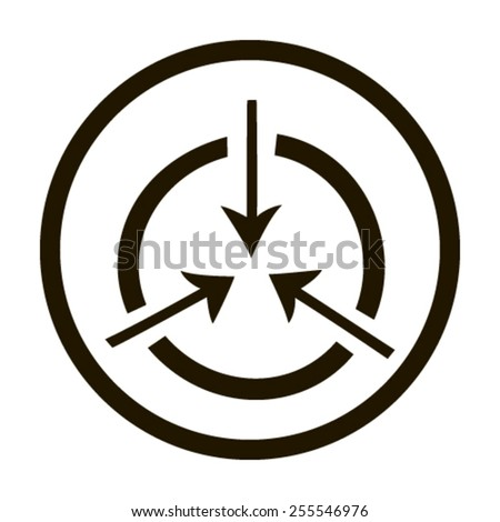 icon flat target - stock vector