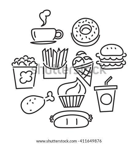 icon food, vector