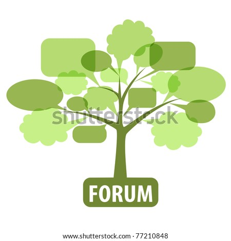 Icon for forum - stock vector