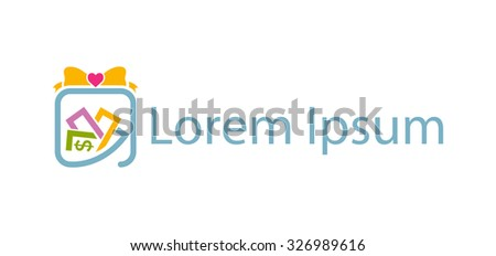 Icon for gifts and souvenir shop - stock vector