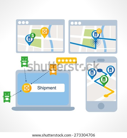 Icon for website and mobile application. Flat design. Vector. Editable. Transportation - stock vector