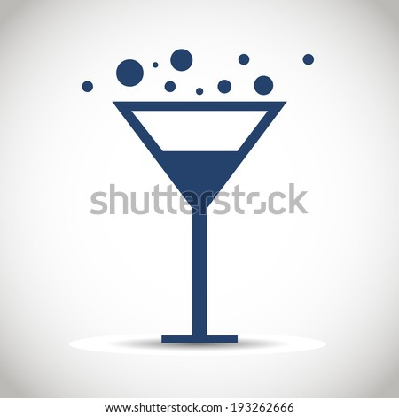 Icon glass wine. - stock vector