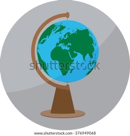 Icon globe sign globe badge app stock vector 376949068 shutterstock icon globe sign globe badge app sphere ball world earth map gumiabroncs Gallery